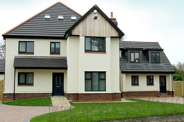 Grey working well with cream exterior render