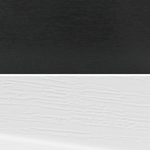 Dark Grey / White Grain - Window and Door Colours