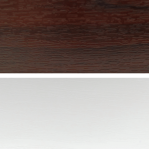 Rosewood / White with Grain - Window and Door Colours